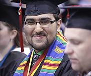 Photo of student at graduation. Links to Gifts of Cash, Checks, and Credit Cards